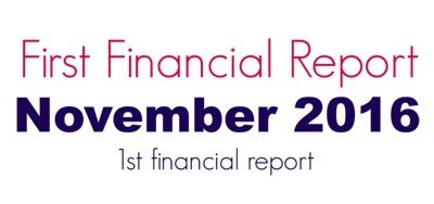 Monthly Financial Report, November 2016 Financial Report, Mom Finance Blog