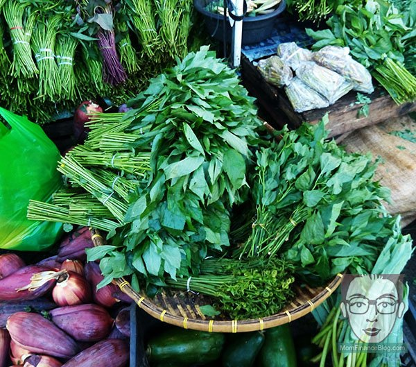 Leafy vegetables, Public Market, MomFinanceBlog